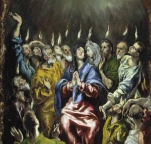 El Greco, La Pentecoste (1600 ca.) - Madrid, Prado
