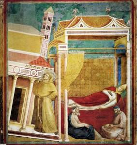 Giotto, Il sogno di Innocenzo III (1295-99). Assisi, Basilica Superiore.