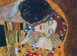 Gustav Klimt, il bacio (1907-1908) - Vienna, Osterreichische Galerie Belvedere