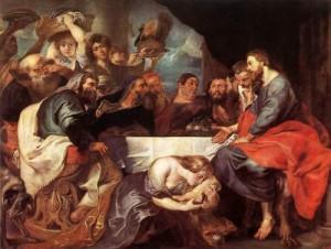 Pieter Paul  Rubens, Cristo nella casa di Simone il fariseo ( 1618-20). San Pietroburgo, Ermitage