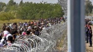 profughi al confine ungherese