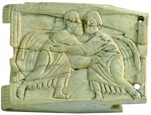 Concordia apostolorum, placchetta d'avorio del VI sec. - Museo diocesano, Castellamare (NA)