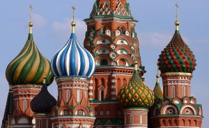 Mosca, cupole della Cattedrale di San Basilio (metà sec.XVI)
